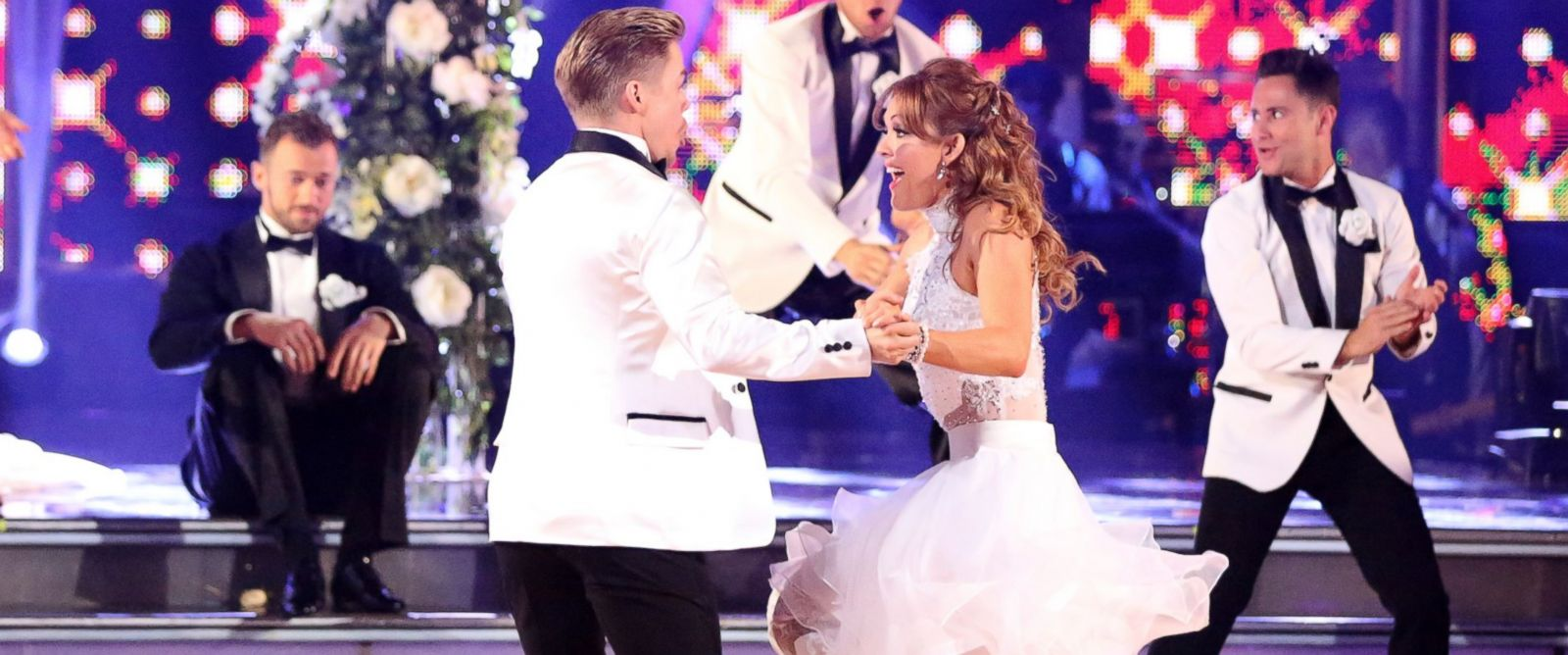 "PHOTO: Derek Hough and Amy Purdy perform on ""Dancing with the Stars,"" April 21, 2014."