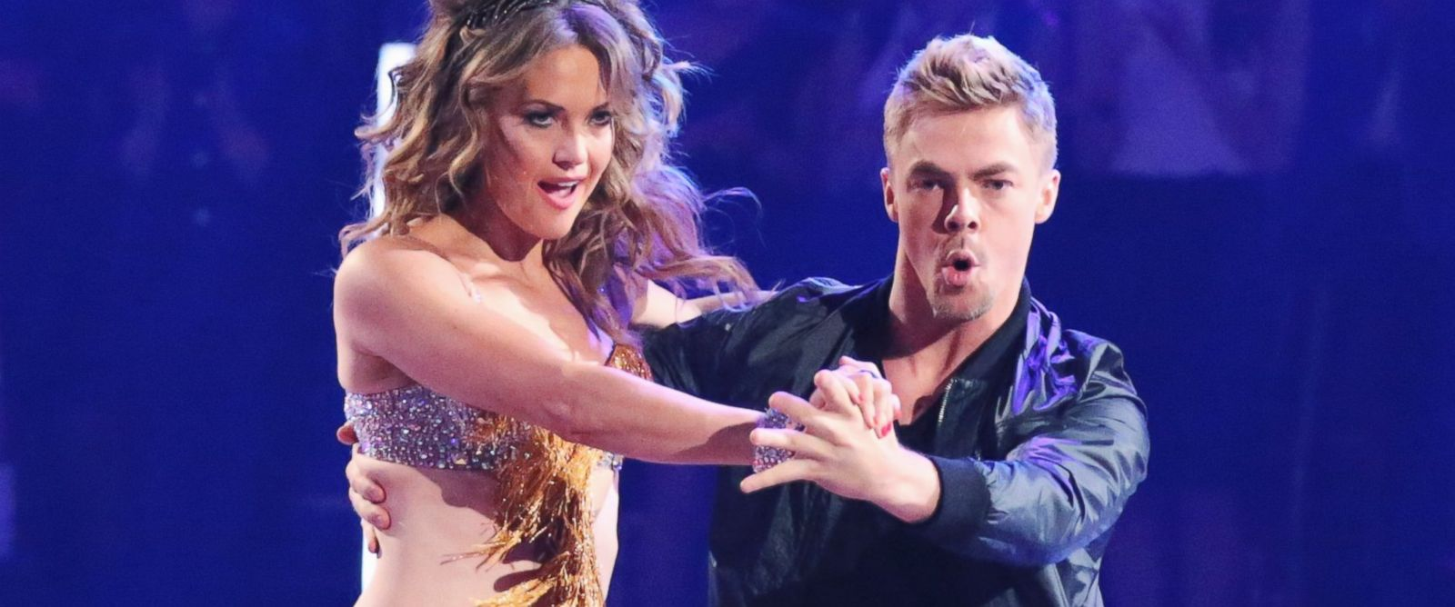 "PHOTO: Amy Purdy and Derek Hough dance together during the season premiere of ""Dancing with the Stars,"" March 17, 2014."