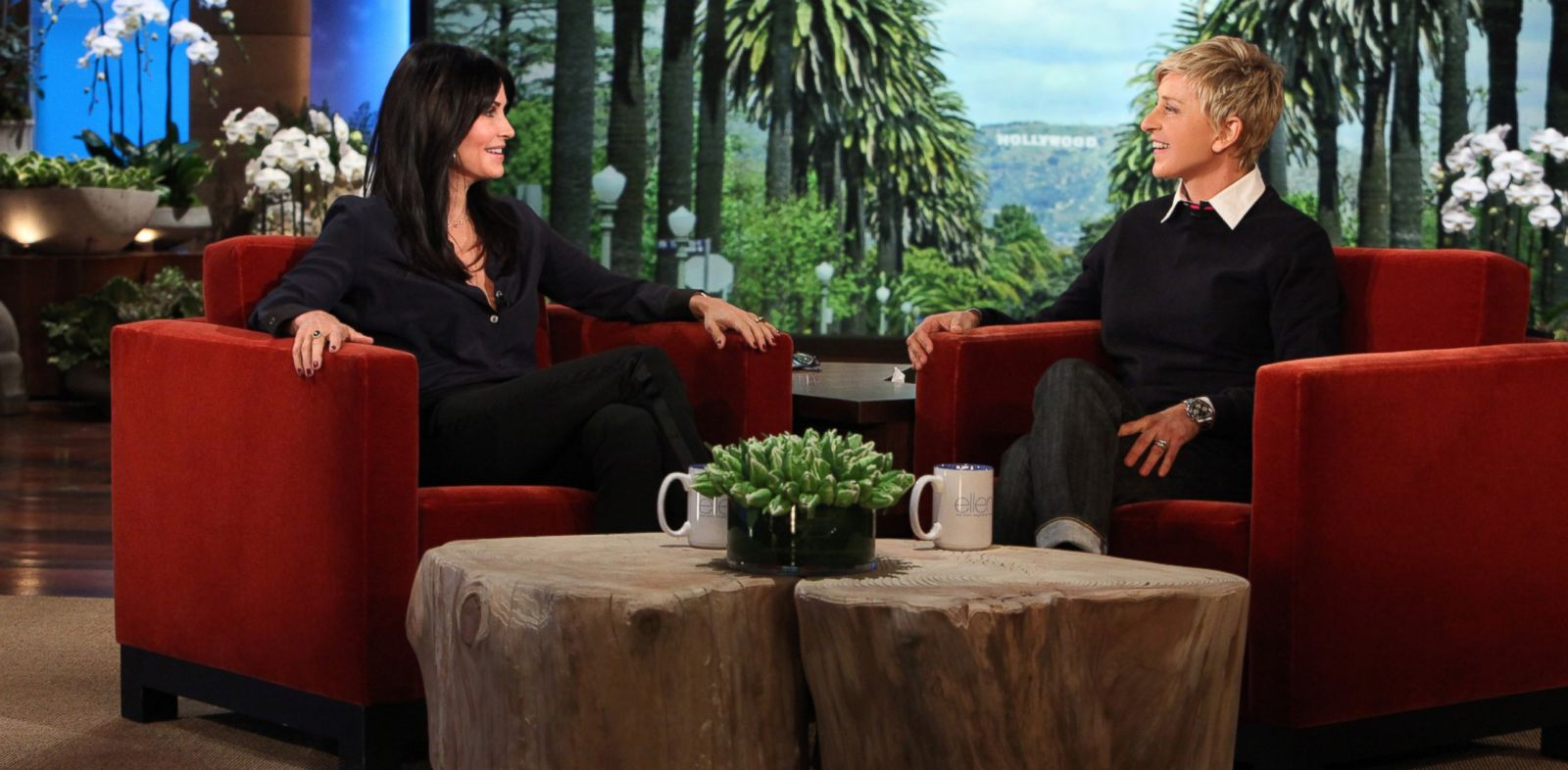 "PHOTO: Courteney Cox makes an appearance on ""The Ellen DeGeneres Show,"" Jan. 7, 2014."