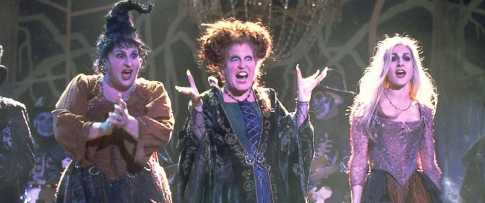 PHOTO: The Sanderson Sisters are 17th century witches who were conjured up by unsuspecting pranksters in present-day Salem.