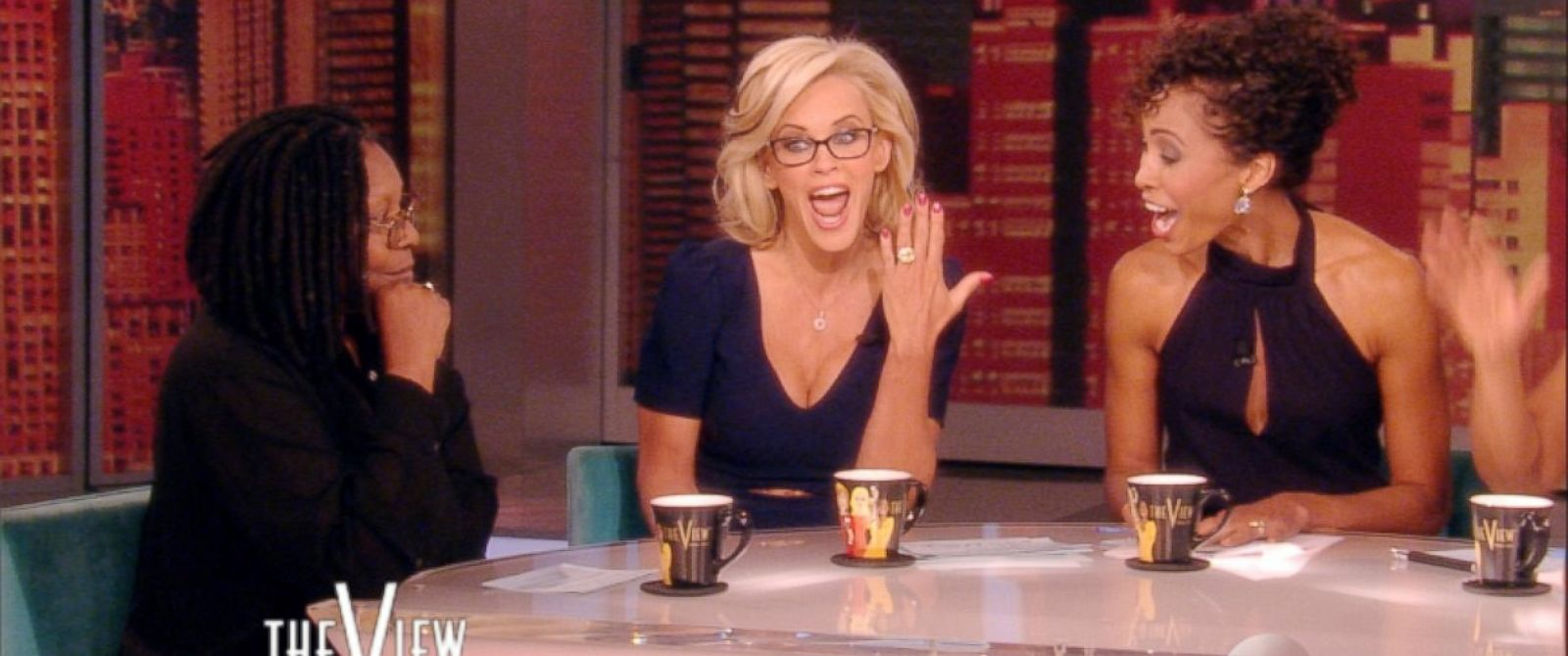 "PHOTO: While hosting ""The View"" on April 16, 2014, Jenny McCarthy announced that she is engaged to Donnie Wahlberg and showed off her engagement ring."