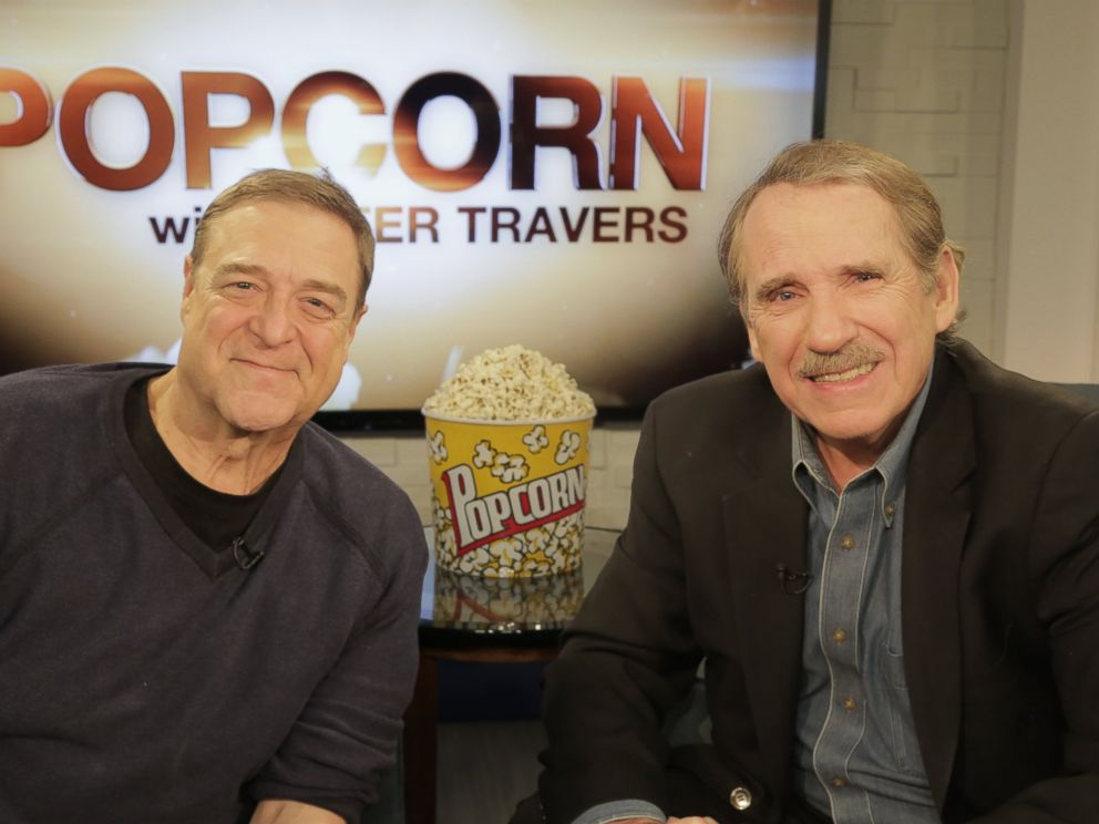 PHOTO: John Goodman speaks with Peter Travers at the ABC News Headquarters in New York, March 7, 2016.