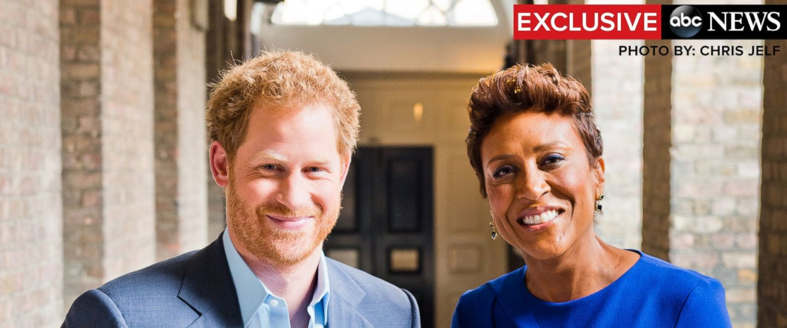 """PHOTO: Prince Harry speaks in an exclusive interview with Robin Roberts on ABCs """"Good Morning America."""""""