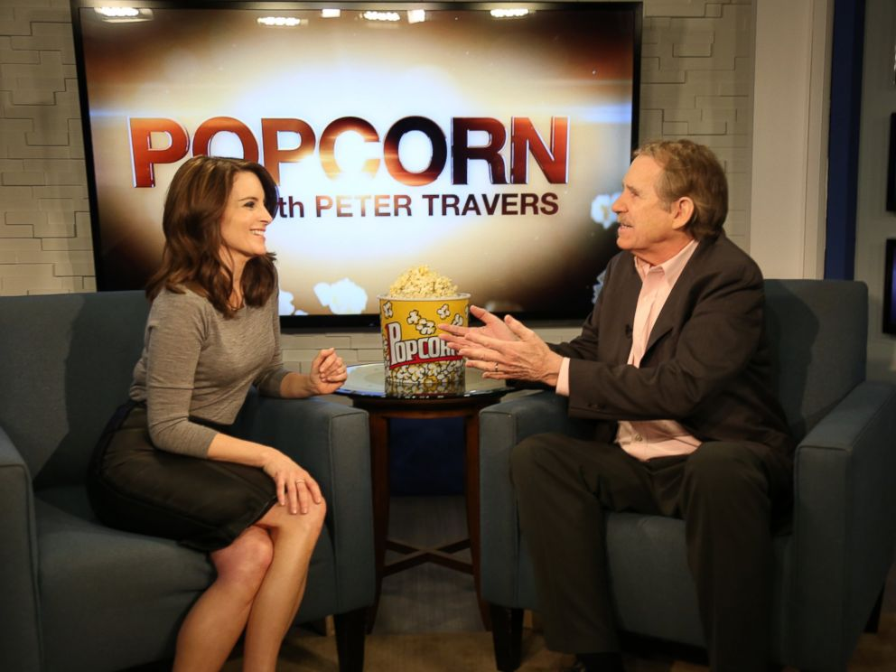 PHOTO:Tina Fey speaks with Peter Travers at the ABC New Headquarters in New York, March 4, 2016.