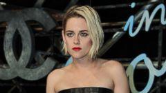Kristen Stewart Rocks a Black Leather Dress