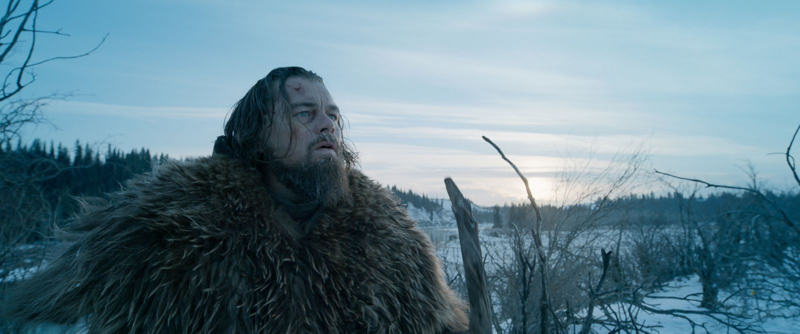 "PHOTO: Leonardo DiCaprio is seen as Hugh Glass, in a scene from the film, ""The Revenant."""