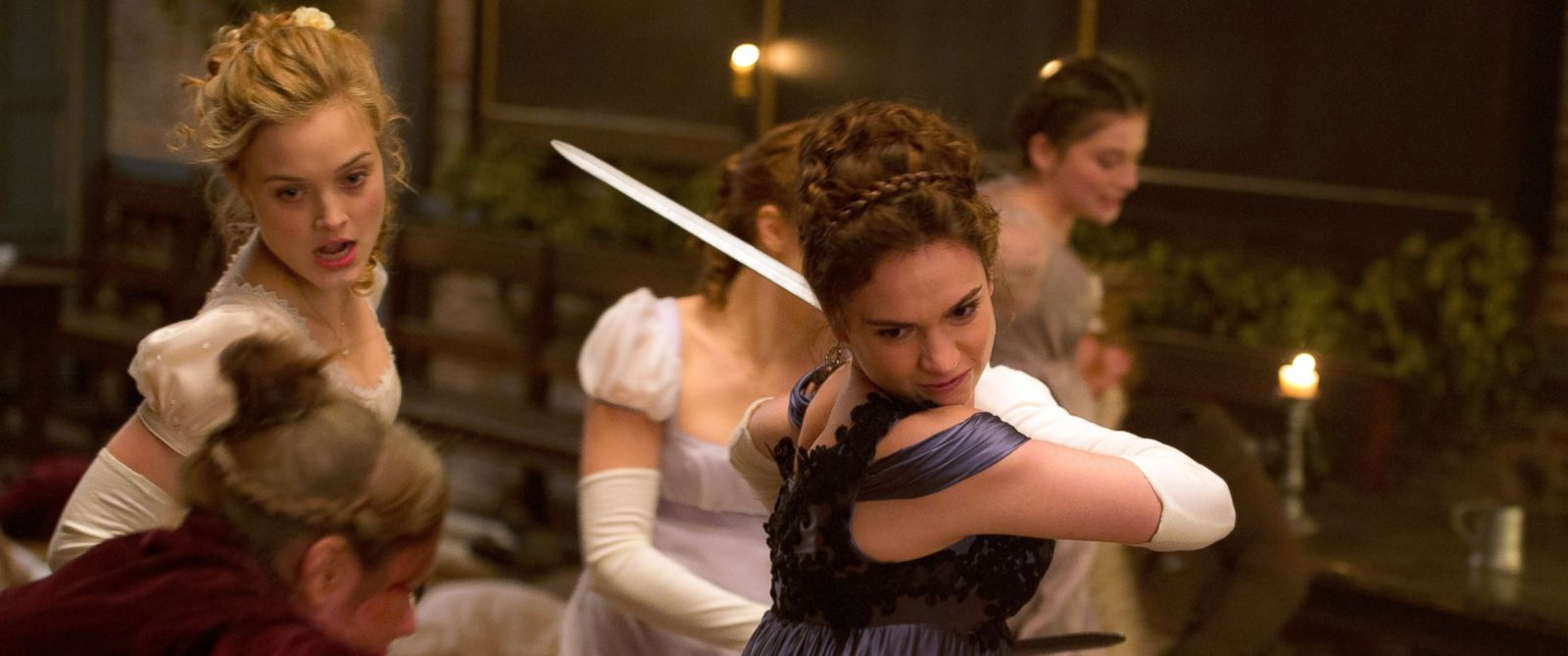 """PHOTO: Lily James in a scene from """"Pride and Prejudice and Zombies."""""""