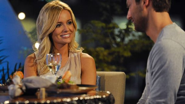 "PHOTO: Emily Maynard talks to Brad Womack on ""The Bachelorette,"" in Charlotte, N.C., March 20, 2012."