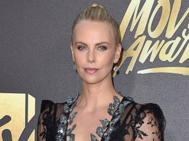 Charlize Theron Rocks Racy Lace on Red Carpet
