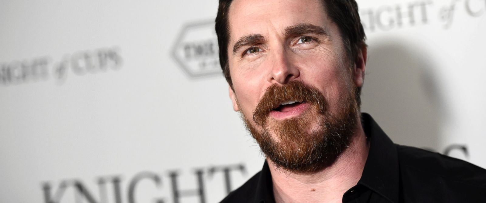 "PHOTO: Christian Bale attends the premiere of the film ""Knight of Cups"" at The Theatre at Ace Hotel, March 1, 2016, in Los Angeles."
