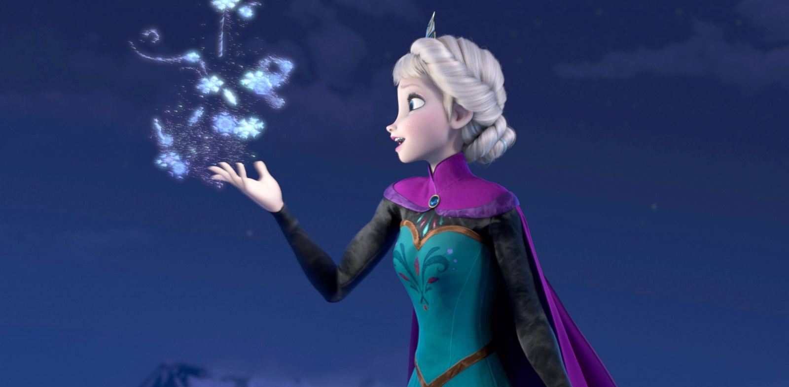 """PHOTO: Elsa the Snow Queen, voiced by Idina Menzel, in a scene from the animated feature """"Frozen."""""""