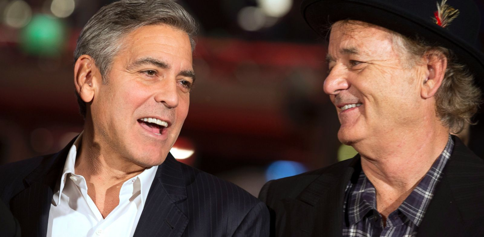 PHOTO: Actors George Clooney and Bill Murray arrive for the screening of the film The Monuments Men during the International Film Festival Berlinale, in Berlin, Feb. 8, 2014.