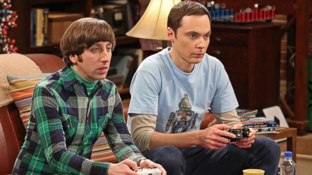 "PHOTO: Jim Parsons, right, and Simon Helberg in a scene from ""The Big Bang Theory."""