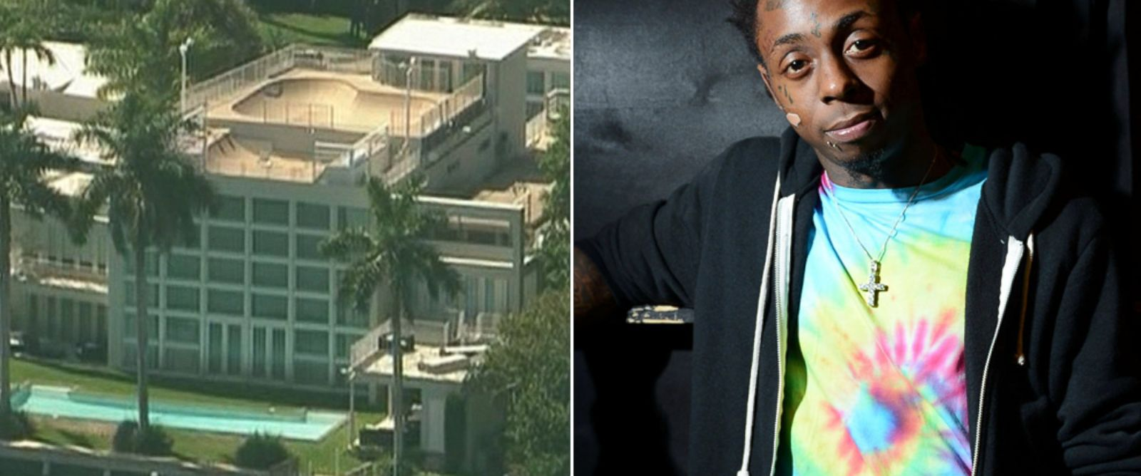 PHOTO: From left, Lil Waynes mansion in Miami Beach, Fla., and Lil Wayne in New Orleans