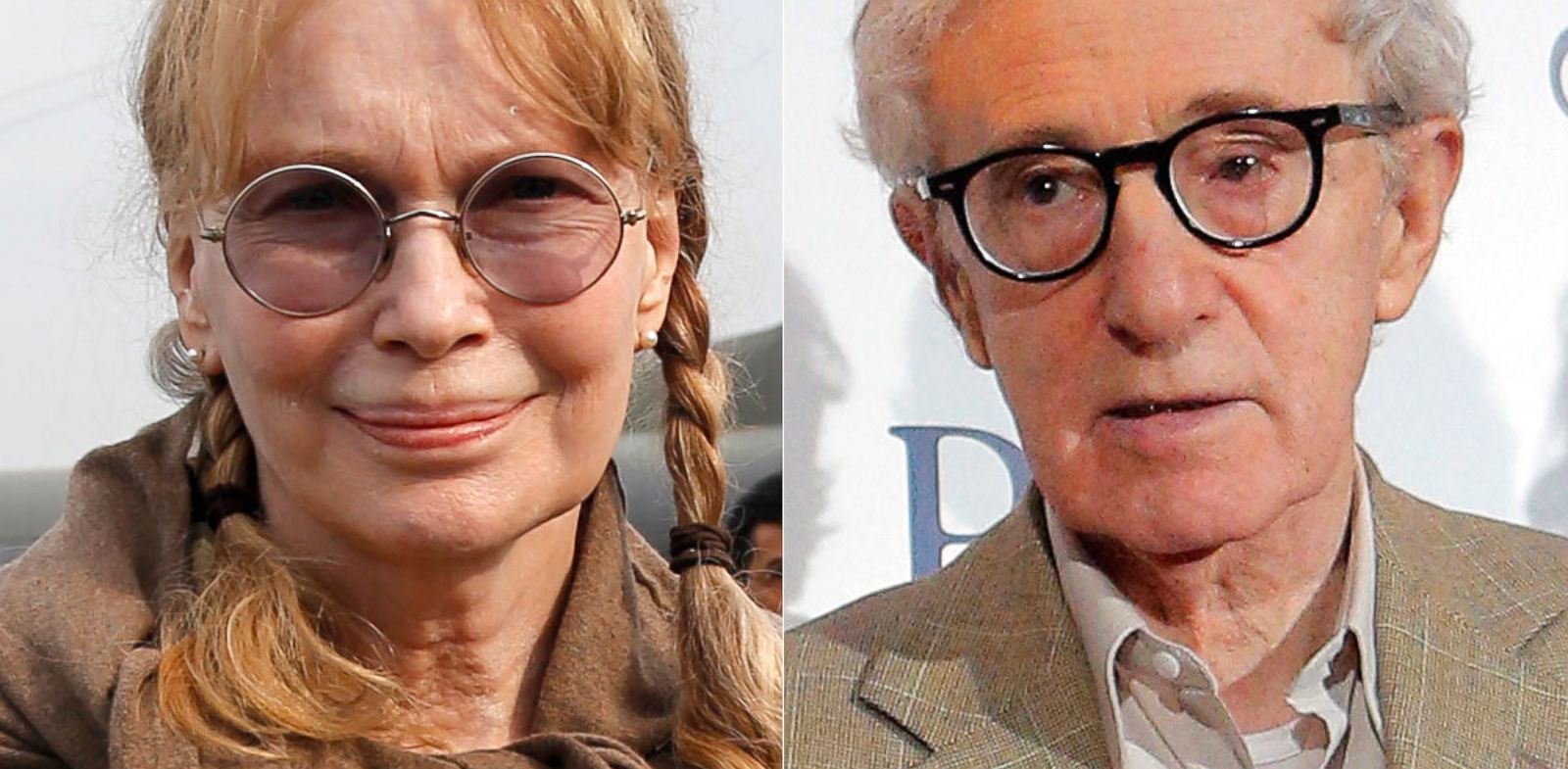 "PHOTO: Left, Mia Farrow at Lago Agrio airport, Jan. 28, 2014. Right, Woody Allen is seen at the premiere of ""Blue Jasmine,"" Aug. 27, 2013, in Paris."