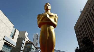 PHOTO: A Oscar statue is seen on the red carpet before the 84th Academy Awards in Los Angeles, Feb. 25, 2012.