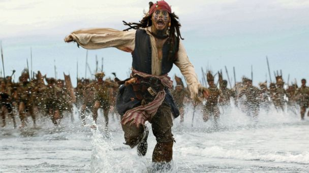"PHOTO: Johnny Depp appears in a scene from ""Pirates of the Caribbean: Dead Mans Chest."""