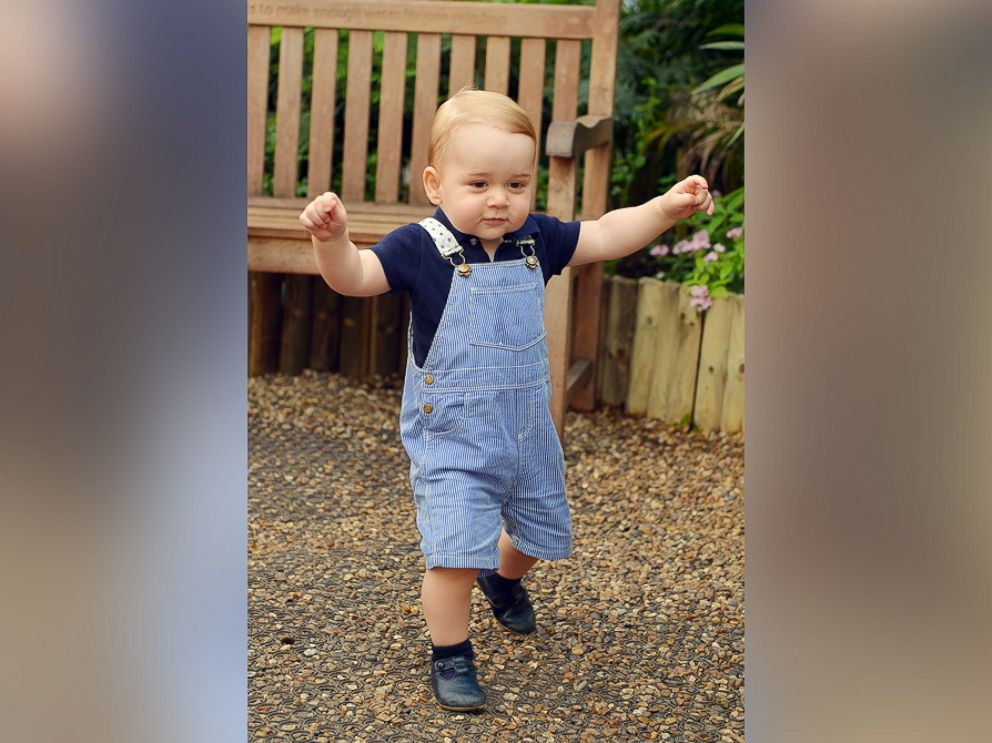 PHOTO: This photo dated Wednesday, July 2, 2014, was taken to mark Prince Georges first birthday and shows the Prince during a visit to the Sensational Butterflies exhibition at the Natural History Museum in London.