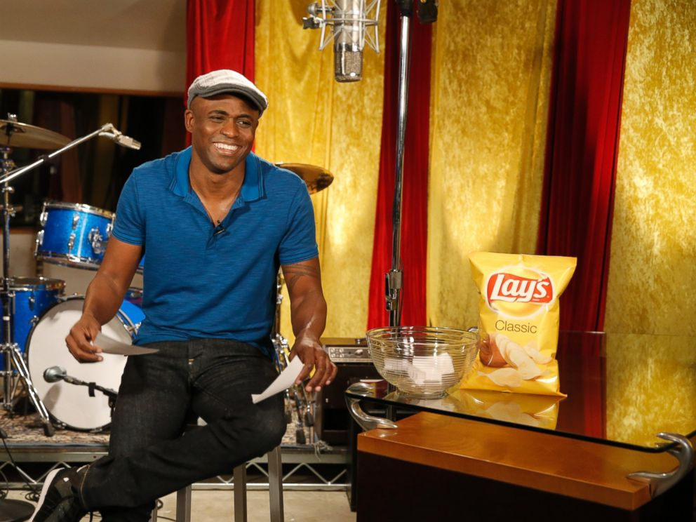 PHOTO: To help kick off the return of the Lays Do Us A Flavor contest to the U.S., Emmy Award-winning entertainer, Wayne Brady, reacts to fans potato chip flavor ideas on Twitter, via comedic sketches and musical videos at Village Studios.