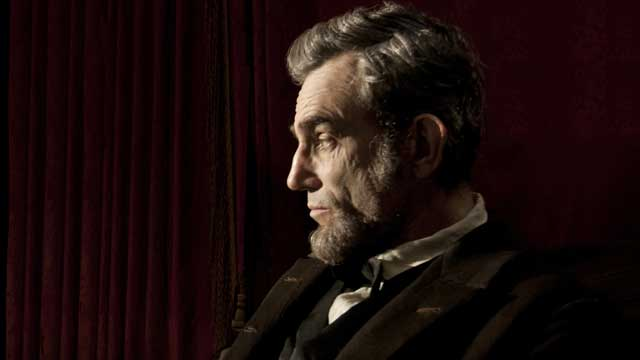 "PHOTO: Daniel Day Lewis play President Abraham Lincoln in the Spielberg movie, ""Lincoln""."