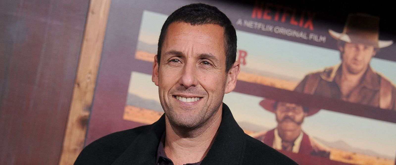 """PHOTO: Actor Adam Sandler arrives at the premiere of Netflixs """"The Ridiculous 6"""" at AMC Universal City Walk on Nov. 30, 2015 in Universal City, Calif."""