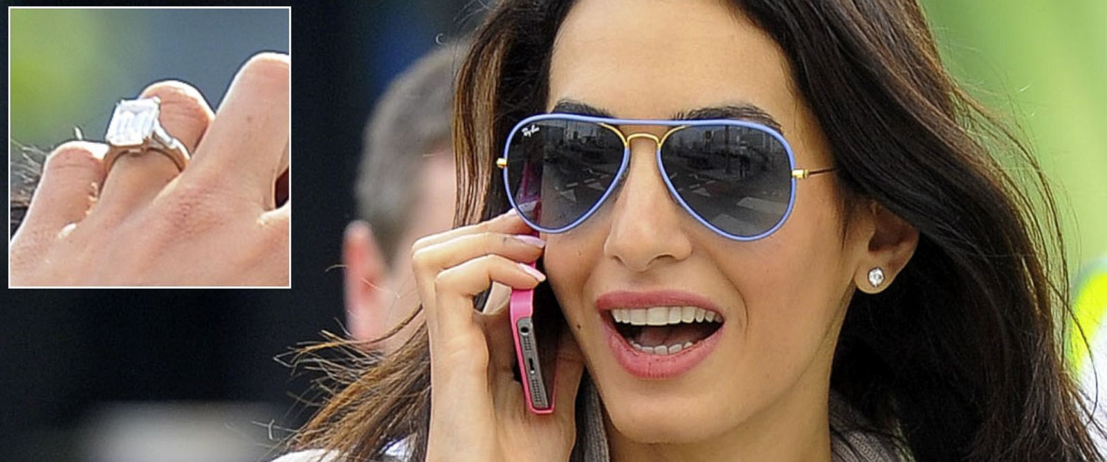 PHOTO: Amal Alamuddin is seen on May 13, 2014 in London, United Kingdom.