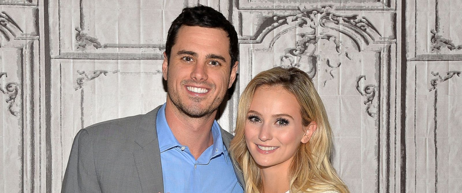 """PHOTO: Bachelor Ben Higgins and Lauren Bushnell attend the AOL Build Speaker Series to discuss """"The Bachelor"""" at AOL Studios on March 15, 2016 in New York City."""