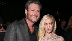 Blake Shelton and Gwen Stefani Pose at the Billboard Awards