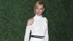 Cate Blanchett Shines in White Mesh