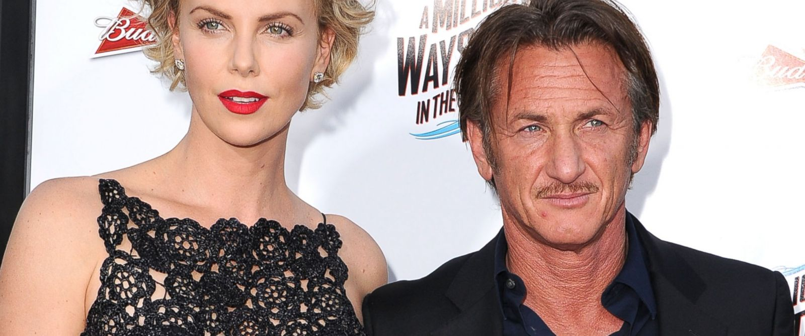 "PHOTO: Charlize Theron and Sean Penn arrives at the ""A Million Ways To Die In The West"" - Los Angeles Premiere at Regency Village Theatre, May 15, 2014, in Westwood, Calif."