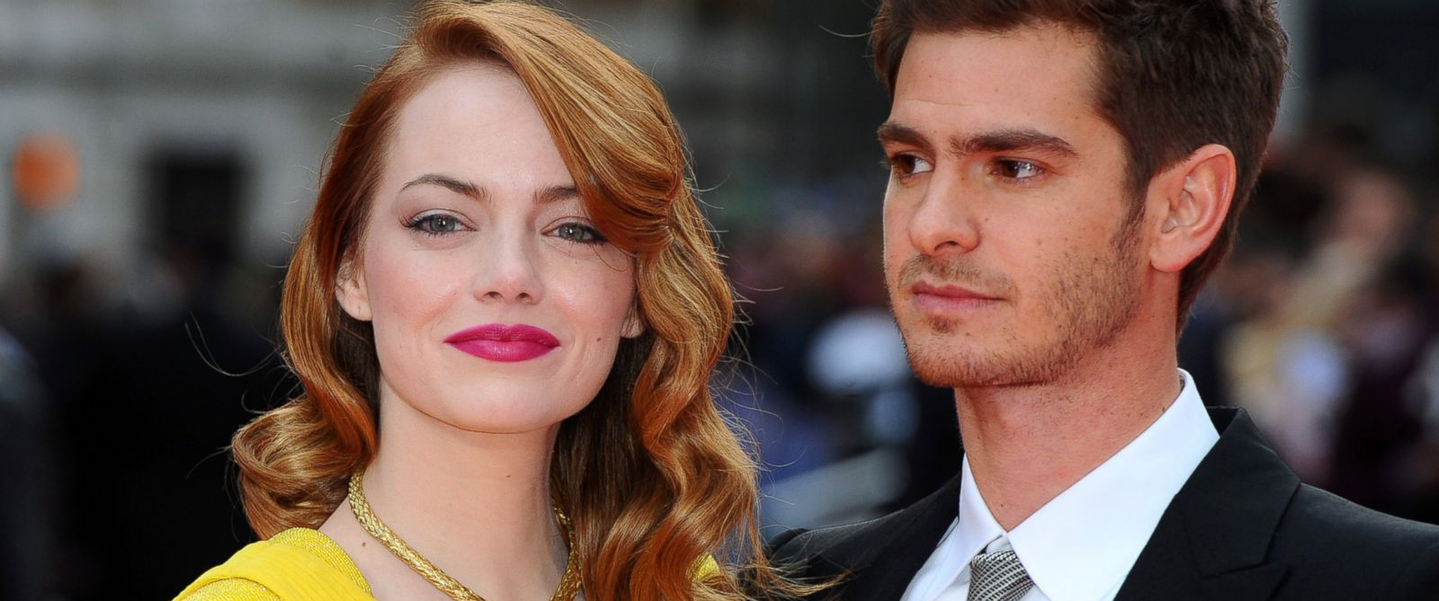 "PHOTO: Emma Stone and Andrew Garfield attend the World Premiere of ""The Amazing Spider-Man 2"" at Odeon Leicester Square, April 10, 2014 in London."