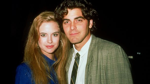 PHOTO: Kelly Preston and George Clooney during ABC TV Affiliates Fall Launch at Century Plaza Hotel in Los Angeles, Calif.