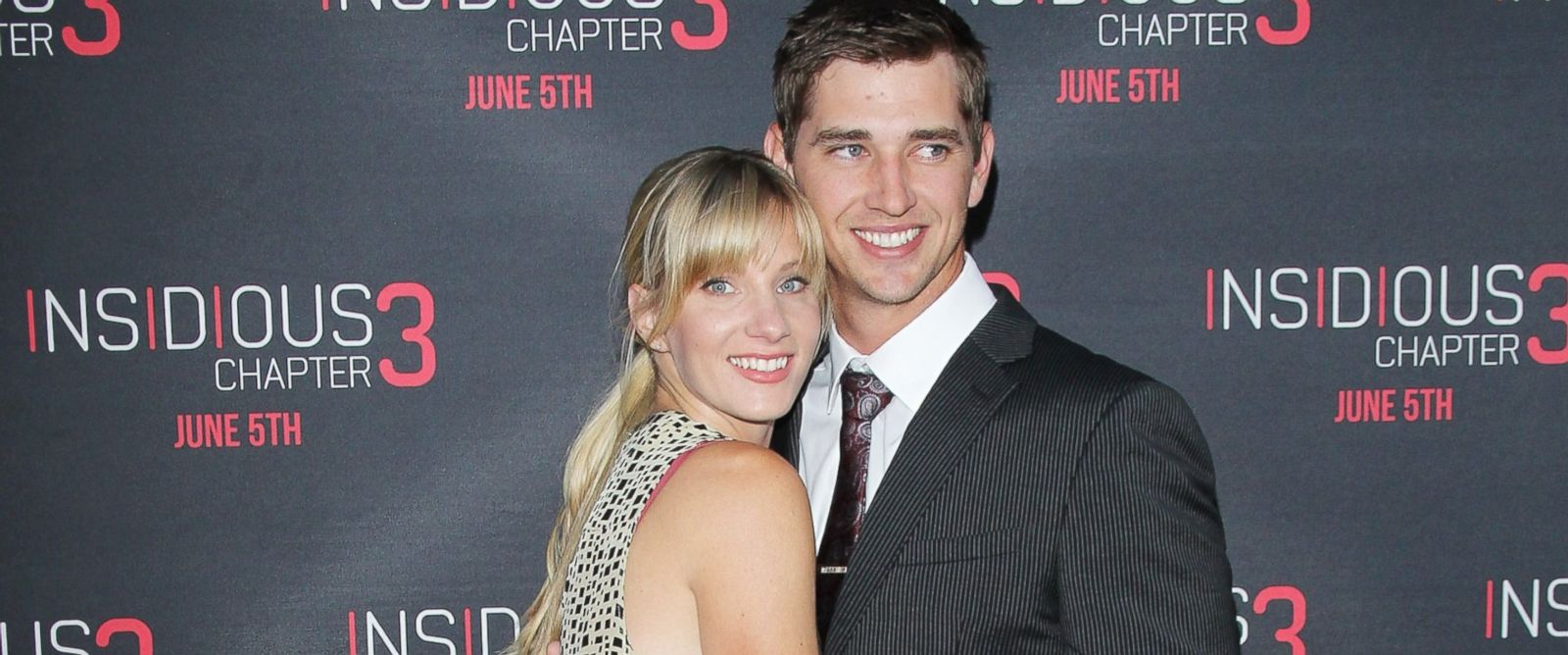 "PHOTO: Heather Morris and husband, Taylor Hubbell arrive at the Los Angeles premiere of ""Insidious: Chapter 3"" held at TCL Chinese Theatre IMAX, June 4, 2015, in Hollywood, Calif."