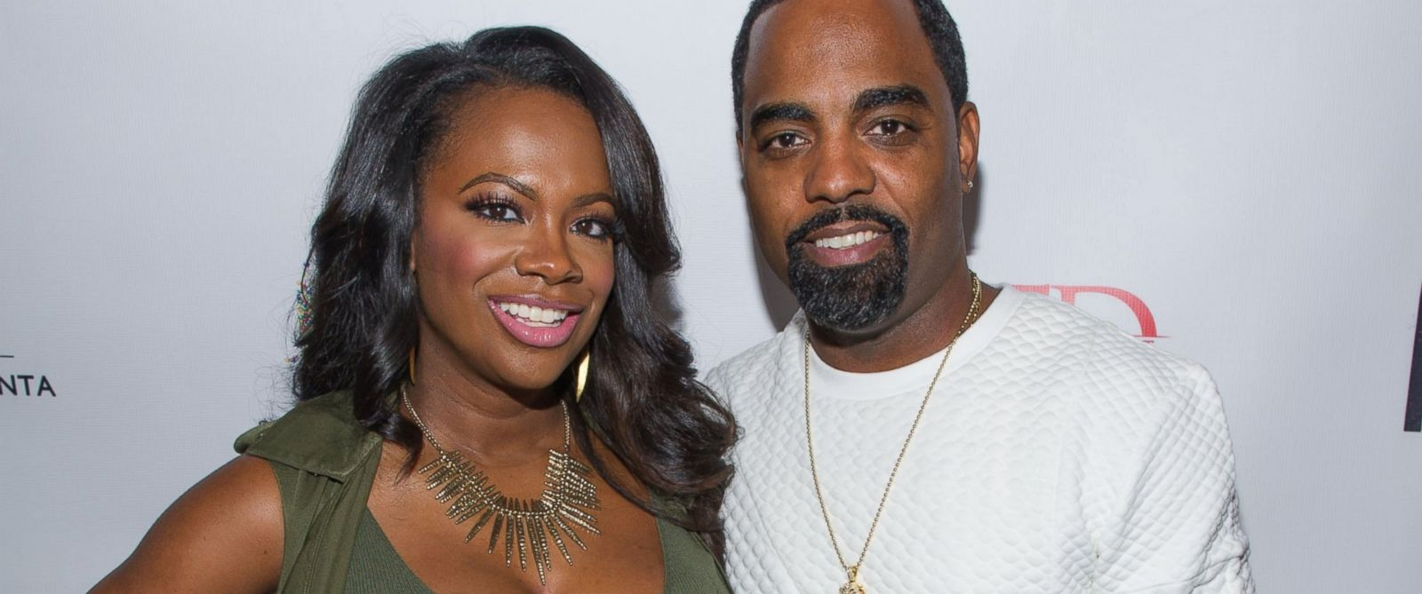 """PHOTO: Kandi Burrus and Todd Tucker attend """"Unnecessary Trouble"""" video debut party at Time Restaurant in this Sept. 29, 2015 file photo in Atlanta."""