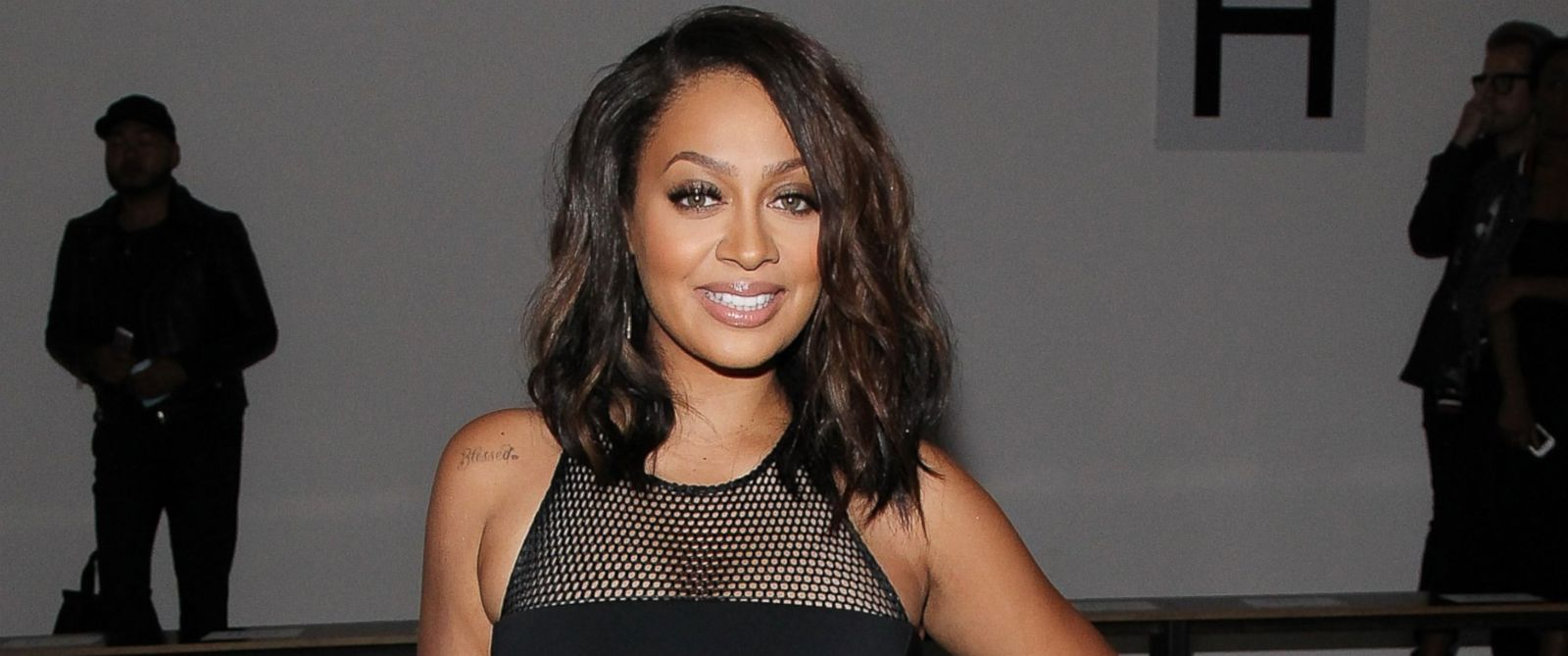 photo actress la la anthony attends cushnie the et ochs show during