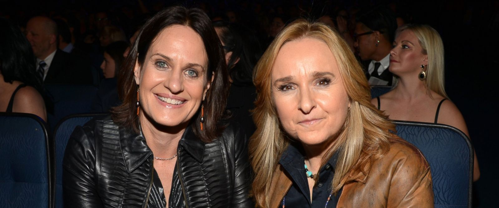 PHOTO: Musician Melissa Etheridge and Linda Wallem attend The GRAMMY Nominations Concert Live!! Countdown to Musics Biggest Night at Nokia Theatre L.A. Live on December 6, 2013 in Los Angeles, California.
