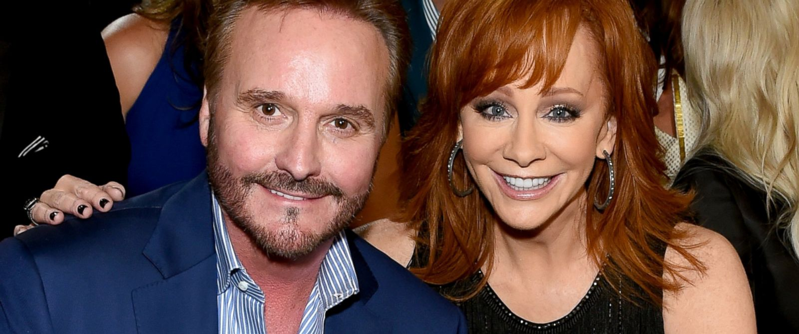 PHOTO: Narvel Blackstock and honoree Reba McEntire attend the 50th Academy of Country Music Awards at AT&T Stadium in this April 19, 2015 file photo in Arlington, Texas.