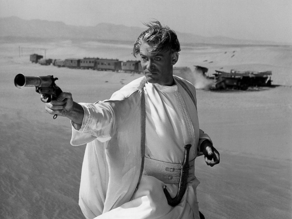 PHOTO: Peter OToole on the set of the film Lawrence of Arabia, released in 1962.