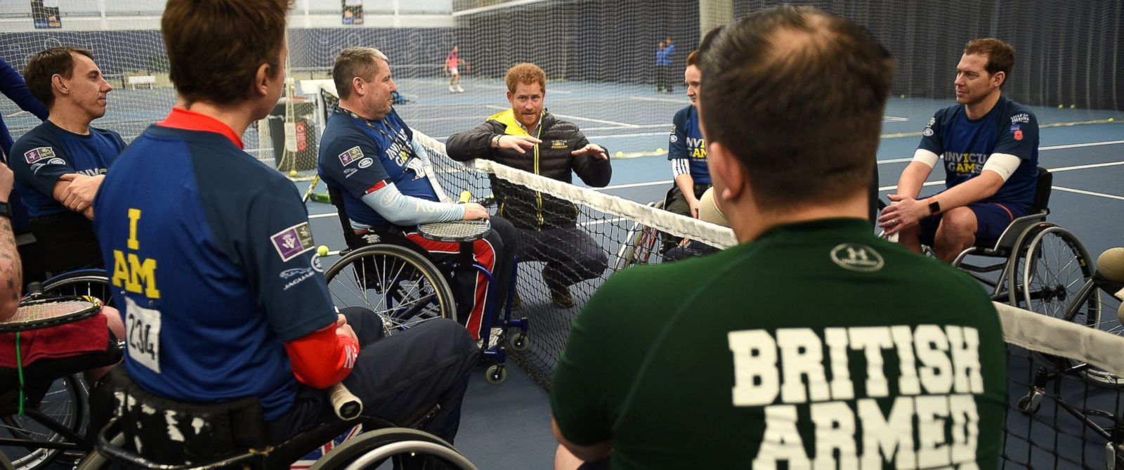 PHOTO: Prince Harry speaks as he attends the Invictus Games Orlando British team trials at the University of Bath on Jan. 29, 2016 in Bath, England.