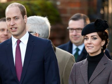 Duchess Kate and Prince William Attend Church