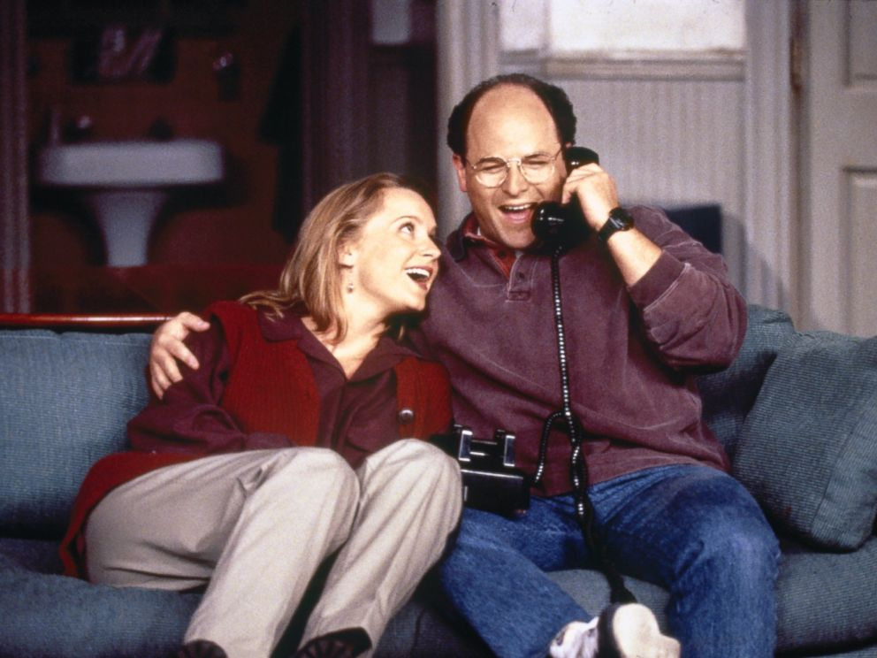 PHOTO: Susan Ross (Heidi Swedberg) and George Costanza (Jason Alexander) become engaged in the Season 7 premiere episode of Seinfeld, titled The Engagement. The episode first aired Sept. 21, 1995.