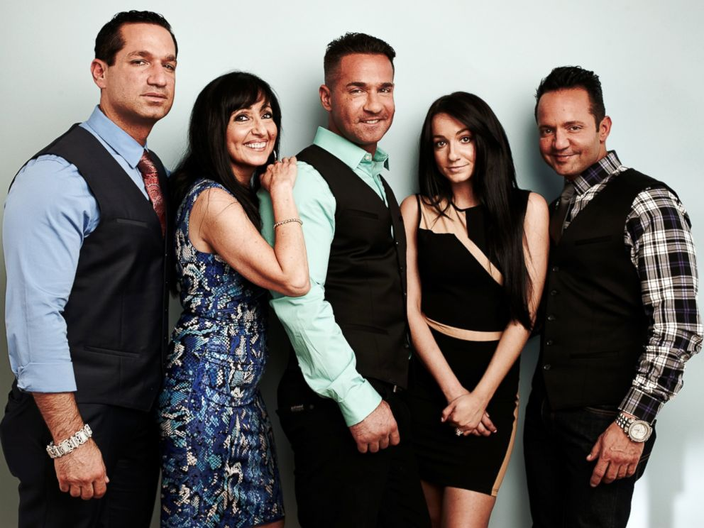 PHOTO: Mike The Situation Sorrentino and his family during the 2014 Television Critics Association Summer Tour at The Beverly Hilton Hotel on July 8, 2014 in Beverly Hills, California.