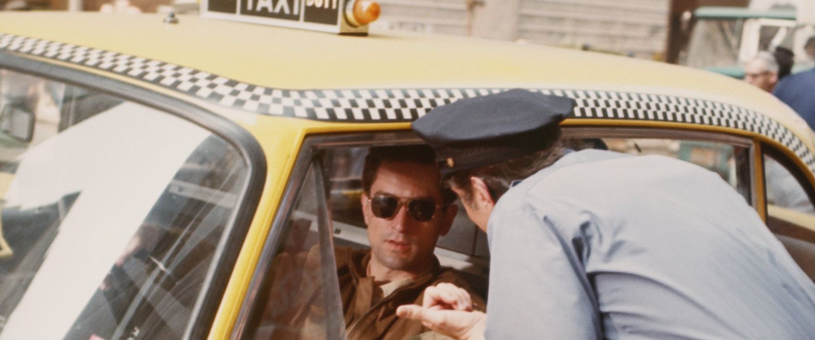 PHOTO: Robert De Niro performs a scene in Taxi Driver directed by Martin Scorsese in 1976 in New York.