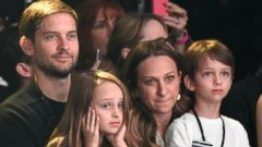 Tobey Maguire and His Family Take in a Fashion Show