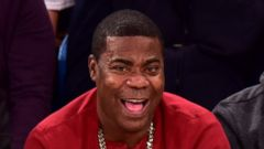 Tracy Morgan All Smiles at Knicks Game
