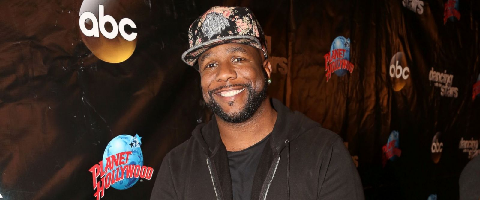 """PHOTO: Wanya Morris poses at the 22nd Season Stars of ABCs """"Dancing With The Stars"""" cast announcement at Planet Hollywood Times Square, March 8, 2016, in New York."""