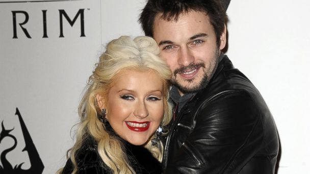 "PHOTO: Christina Aguilera and Matt Rutler attend the ""The Elder Scrolls V: Skyrim"" video game launch party at Belasco Theatre, Nov. 8, 2011, in Los Angeles."