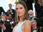 Alessandra Ambrosio Rocks a Risqué Gown