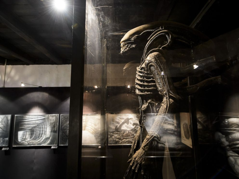 PHOTO: A costume made for the film Alien is displayed at the HR Giger Museum on May 13, 2014 in Gruyeres.