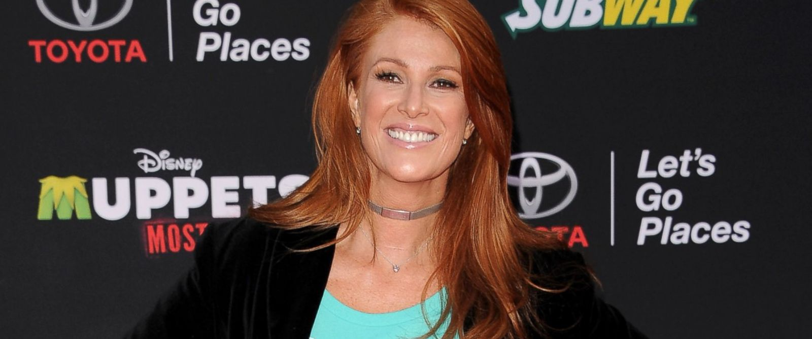 PHOTO: Angie Everhart arrives at the Los Angeles premiere of Muppets Most Wanted at the El Capitan Theatre, March 11, 2014, in Hollywood, Calif.